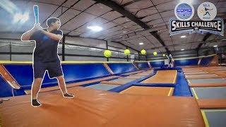 Blitzball Skills Challenge in Trampoline Park! (feat. NEA Blitzball)