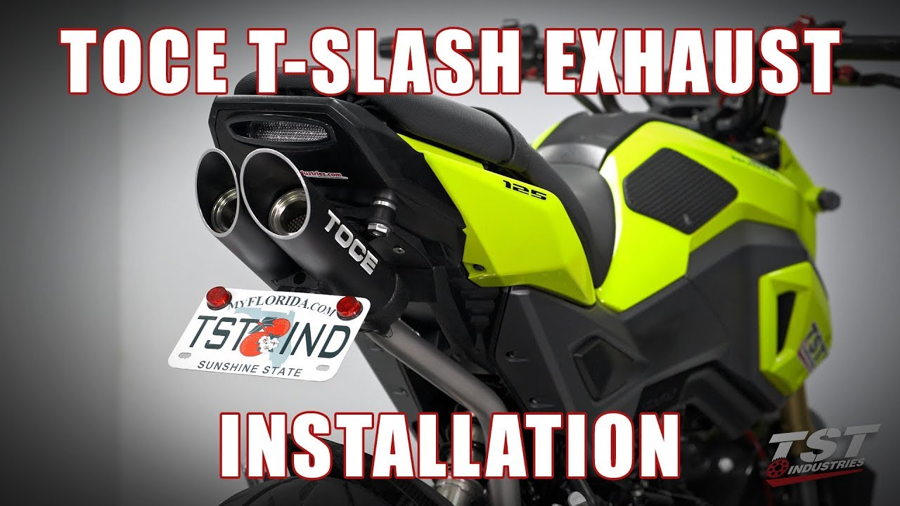 How to install Toce T-Slash Full Exhaust on a 2017+ Honda Grom by TST  Industries