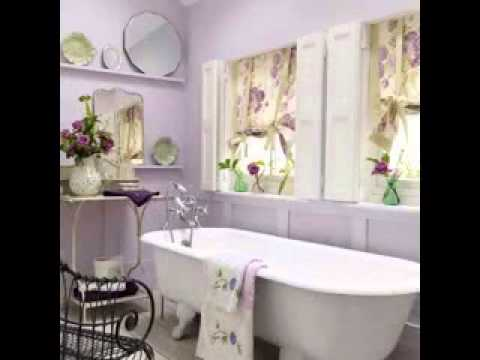 Bathroom window curtain decorations ideas
