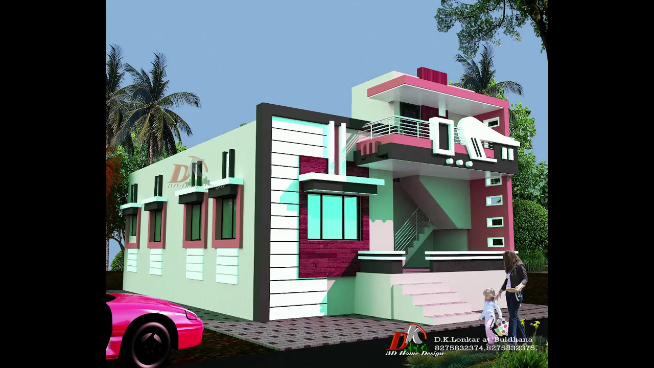 Indian Style Modern House Front Elevations