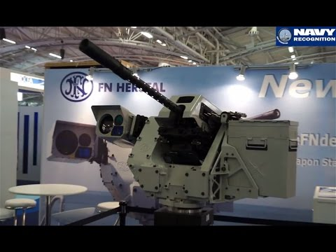FN Herstal unveils the Sea deFNder naval remote weapon station at Euronaval 2014