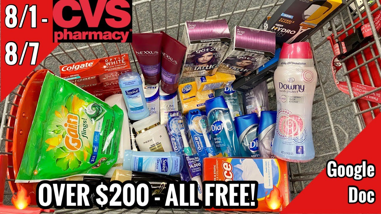 Download CVS Free & Cheap Coupon Deals & Haul | 8/1 - 8/7 | $200 in Personal Care Money Makers! ALL FREE! 🙌🏽