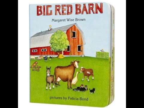 BIG RED BARN Read Aloud Along Story Book for Children Kids