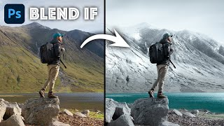 PHOTOSHOP BLEND IF - Turn SUMMER into WINTER! (2021)