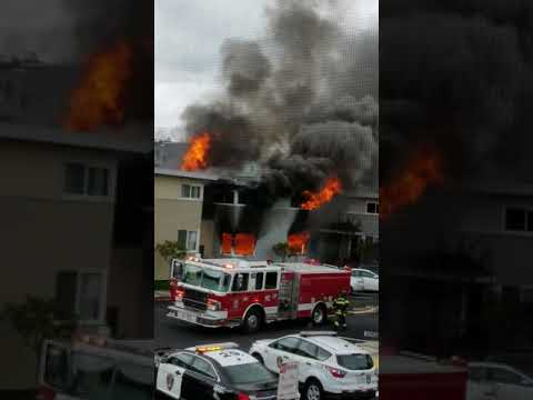 House caught on fire , Daly City California