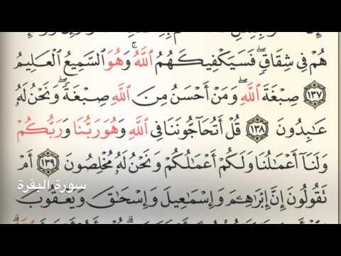سورة البقرة Holy Quran Chapter 2 Page 21 Youtube