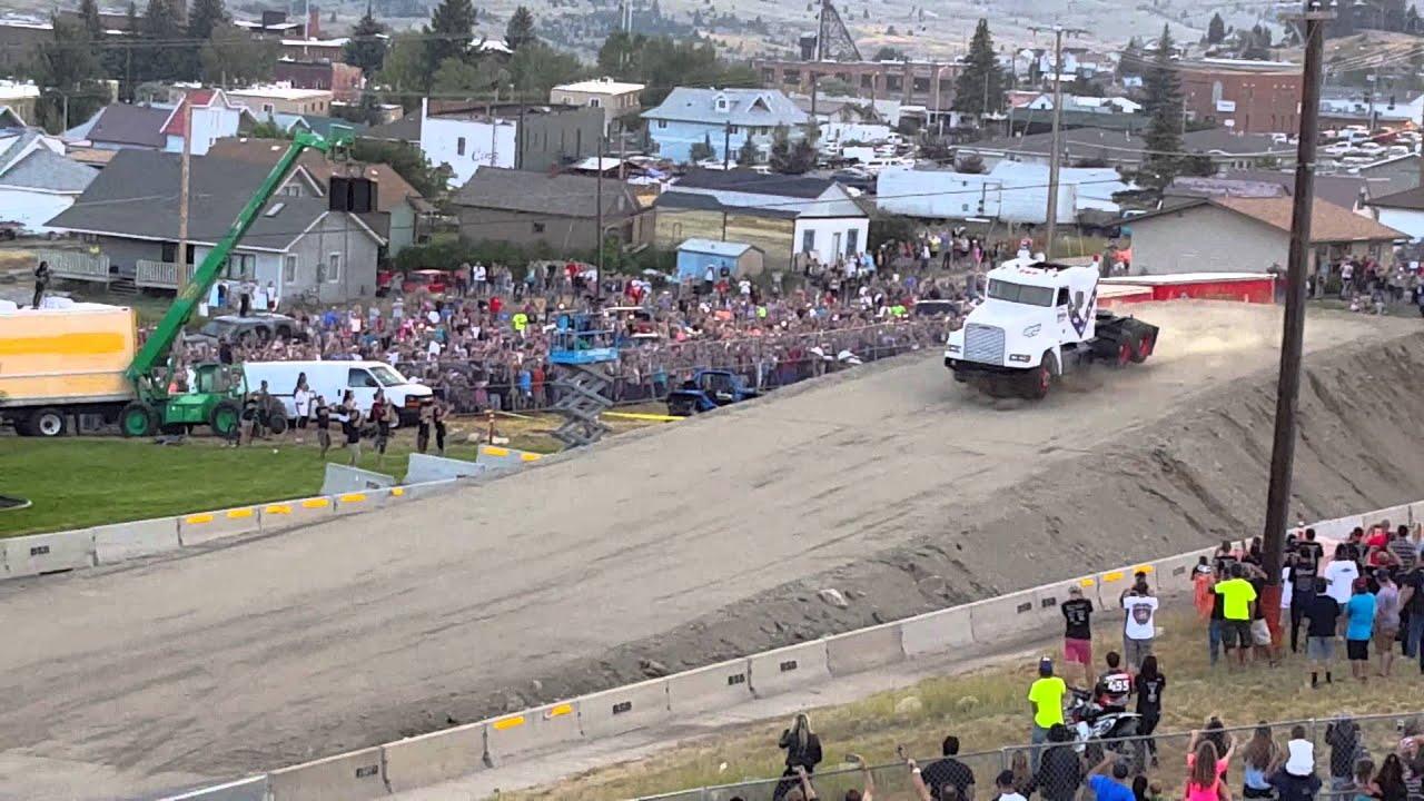 Download World record semi truck jump!
