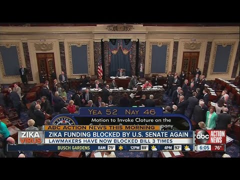 Zika funding blocked by U.S. Senate again