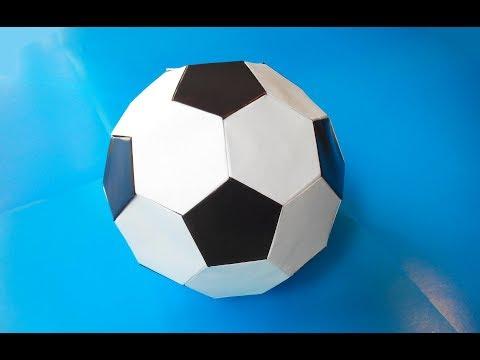 Настоящий Футбольный мяч из бумаги (Mark Leonard), A real soccer ball made of paper
