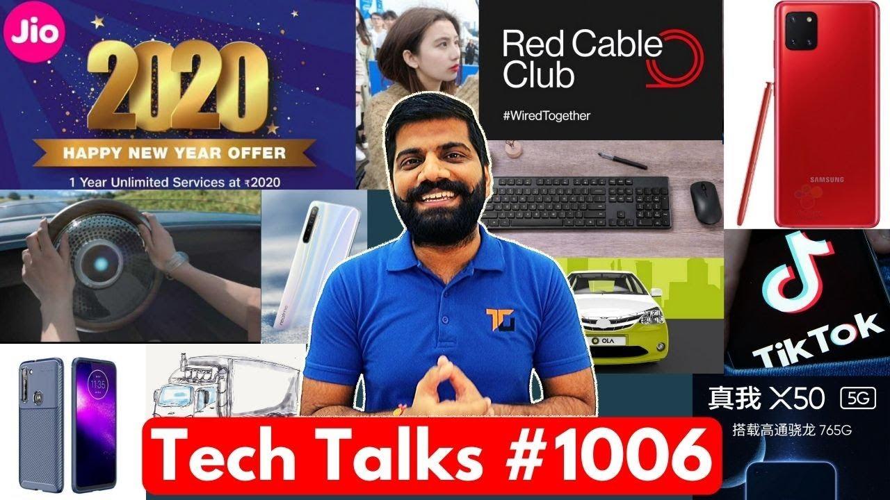 Tech Talks # 1006 - Lancement du téléphone Realme 108MP, Jio Happy New Year 2020, Note 10 Lite, Ola Inde + vidéo