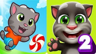 Talking Tom Candy Run vs My Talking Tom 2 Android Gameplay COMPLETED CANDY SHOP