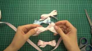 Как завязывать красивые бантики из ленты - Скрапбукинг идеи / Aida Handmade