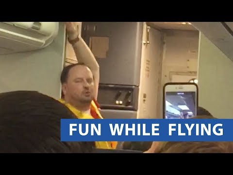 Mack in the Afternoon - Flight Attendant Gives HYSTERICAL Sensual Safety Instructions!