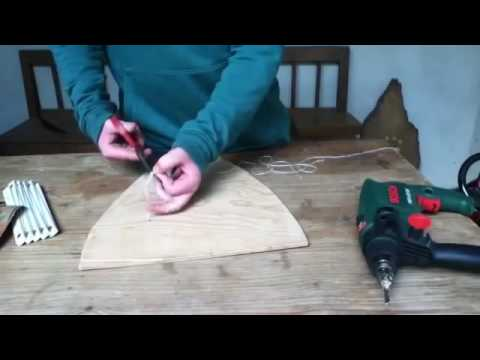 Basteln Anleitung: Ritterschild aus Holz selber machen einen Ritterschild selber basteln