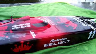High Speed Brushless Motor, Catamaran 6s Lipo, Leopard Motor 75 MPH!!