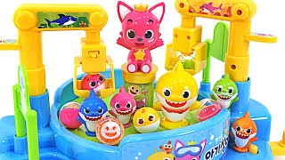 Round and round~ Shall we play with a baby shark and Pink Fong? Pinkfong Double Bead Draw