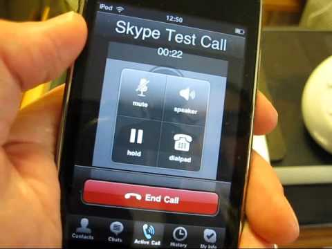 How To Use Skype With IPod Touch & External Microphone