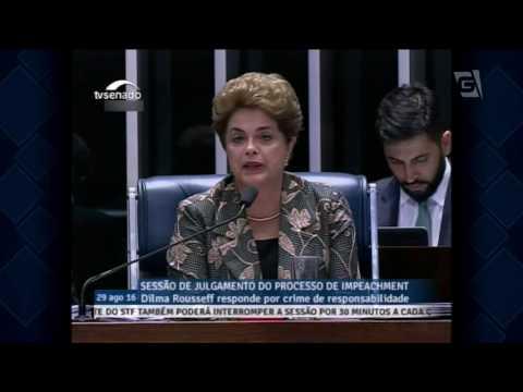 Dilma responde às perguntas dos senadores