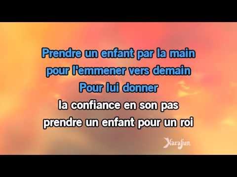 Karaoké Prendre un enfant - Yves Duteil *