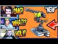 "STREAMERS REACT TO *NEW* ""MOUNTED TURRET"" GUN! *LEGENDARY* Fortnite FUNNY & EPIC Moments"
