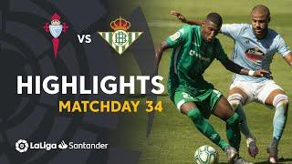 Highlights RC Celta vs Real Betis (1-1)