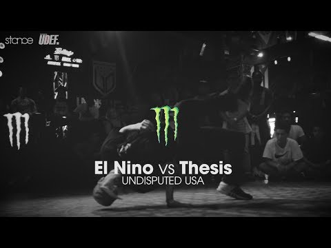 El Nino vs Thesis ► final.stance ◄ Undisputed USA x Freestyle Session 1v1 2017