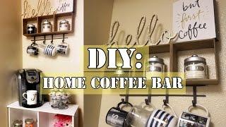 DIY: Coffee Bar (under $100 Including Keurig & Cabinet!)
