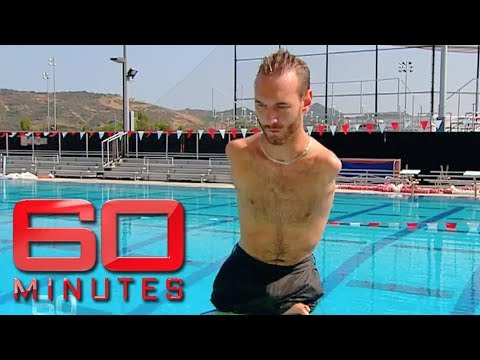 Inspiring man born without arms or legs - Nick Vujicic | 60 Minutes Australia