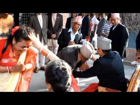 Formar King Gyanendra Gives the Dashain Tika to the Public