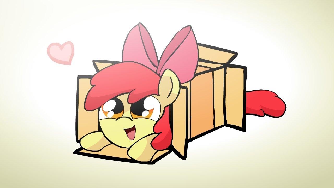 ponies sliding into a box v2 0 youtube. Black Bedroom Furniture Sets. Home Design Ideas