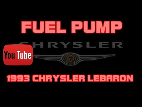 ⭐ 1993 Chrysler LeBaron - 3.0 - Fuel Pump Replacement A Wiring Diagram For Lebaron on