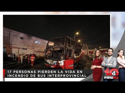 Bus Fiori se incendia con pasajeros adentro - 10 minutos Edición Matinal