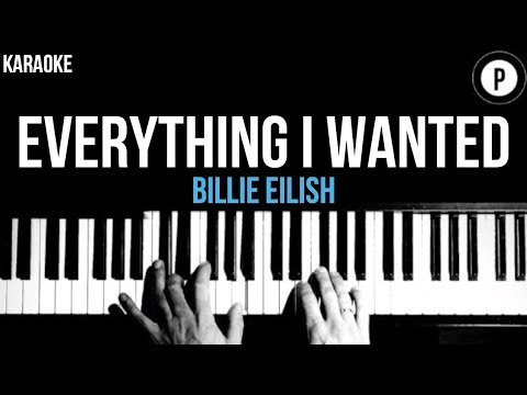 Billie Eilish - Everything I Wanted Karaoke SLOWER Acoustic Piano Instrumental Cover Lyrics