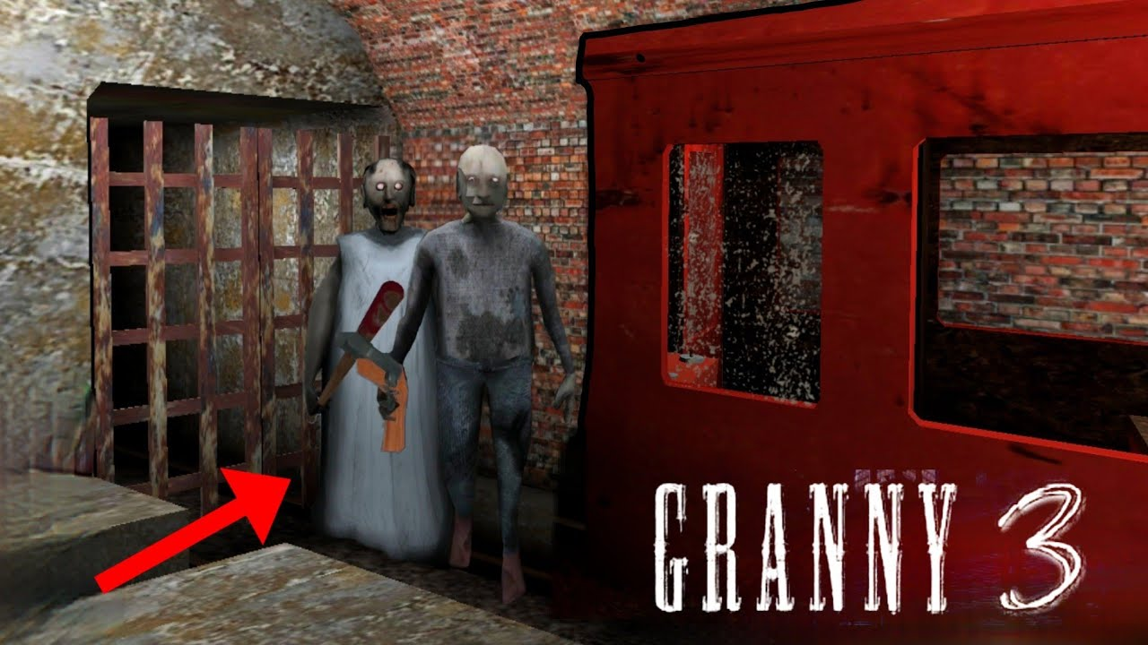Grandpa and granny get crushed by train|| Granny 3 New Update Experiments