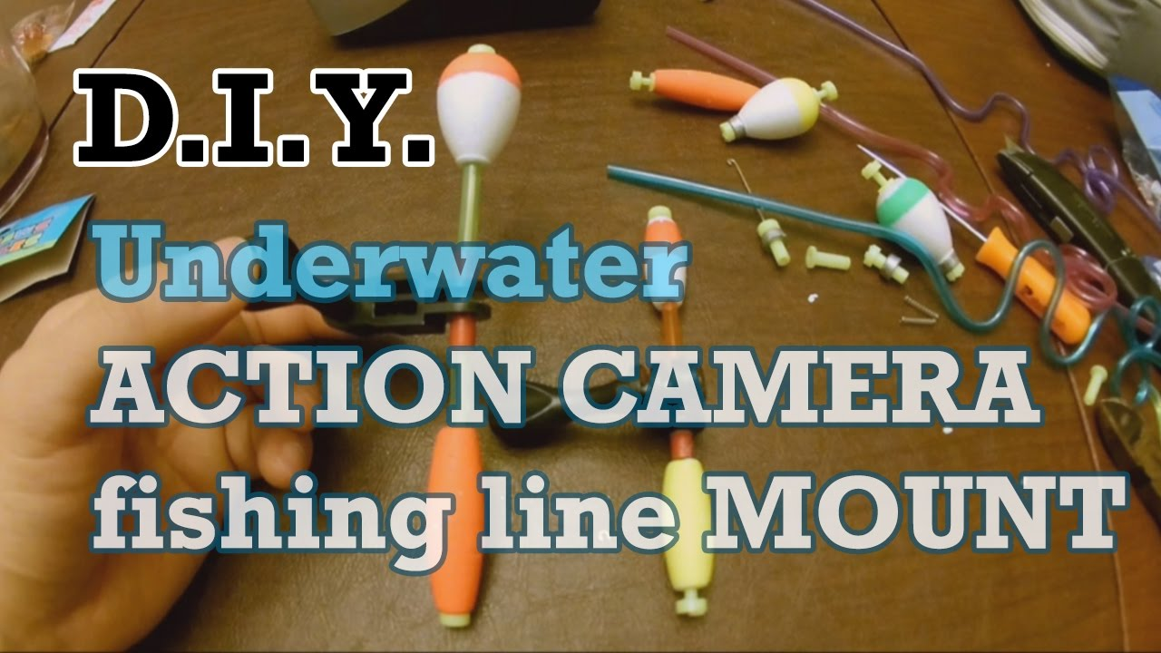 Diy underwater fishing line action camera mount youtube for Fishing line camera