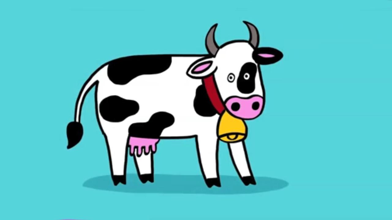 Apprendre dessiner une vache youtube - Dessin vache facile ...