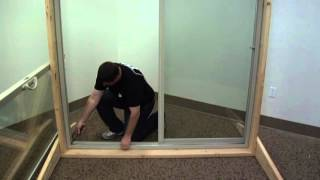 how to replace the operating panel track on a builders vinyl sliding patio door