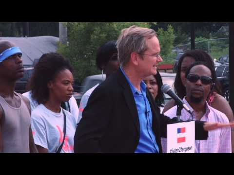 Larry Lessig Press Conference at Ferguson Police Department