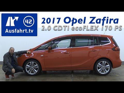2017 Opel Zafira 2.0 CDTi ecoFLEX 170 PS Innovation - Fahrbericht der Probefahrt, Test, Review