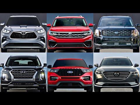 Top 10 Best Midsize 3-Row SUVs Under $40k (2021) hyundai palisade, kia telluride, ford explorer, glb