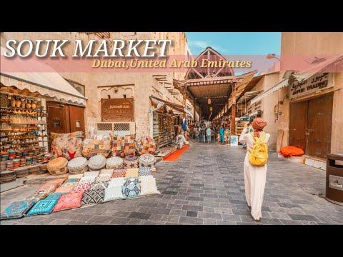 Dubai Souk Markets, Gold Souk, Deira Grand Souk and Bur Dubai Old Souk [4K] Walking Tour   UAE 🇦🇪