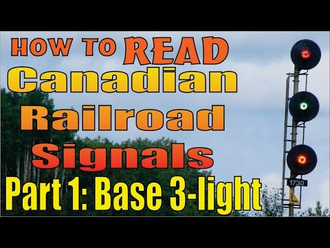 Railroad Signals, reading and meanings, part 1: The basic three light system