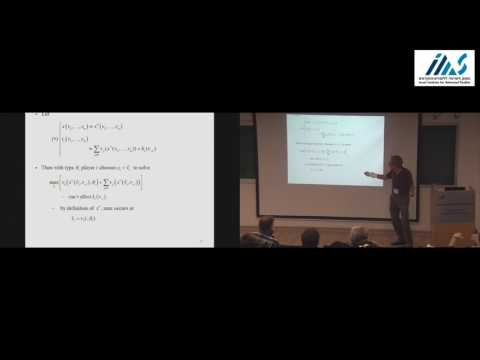 Eric Maskin - Introduction to Mechanism Design: Quasi-linear Preferences