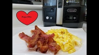 SCRAMBLED EGGS AND BACON AIR FRYER