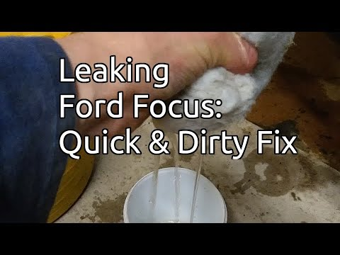 Ford Focus: Water In The Boot / Trunk, Quick And Dirty Fix