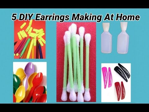 5 DIY Earrings Making At Home