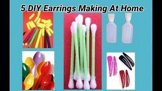 5 DIY Earrings Making At Home