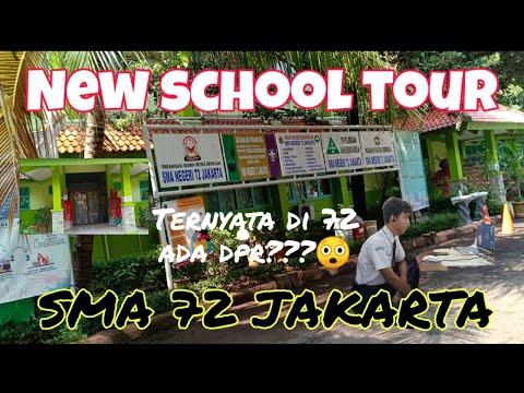 Keliling Sekolah Baru | SMA 72 Jakarta | MPLS #Moonlightvlog