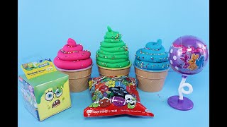 3 Colors Play Doh Ice Cream Cups Spongebob Roblox Littlest Pet Shop