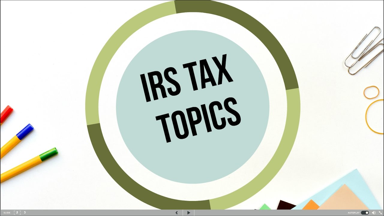 Topic 306 Penalty for Underpayment of Estimated Tax - YouTube